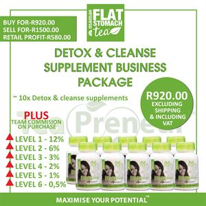 Detox & Cleanse Supplement Business Package